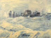 Carle Hessay 1974 Prairie City in Winter