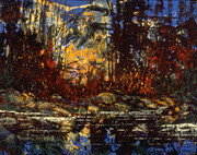Carle Hessay 1961 Near Hope BC (Transformed Forest and River)