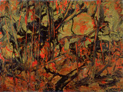 Carle Hessay 1976 Springtime (Orange and Green Tangled Wood)