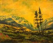 Carle Hessay Golden Sunset in the West